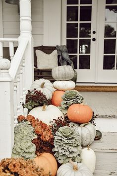 Wonderful But Creative Fall Porch Decorating Ideas. Here are the But Creative Fall Porch Decorating Ideas. This article about But Creative Fall Porch Decorating Ideas was posted  Thanksgiving Decorations, Seasonal Decor, Holiday Decor, Autumn Decorations, Garden Decorations, Table Decorations, Fall Home Decor, Autumn Home, Fall Decor For Porch