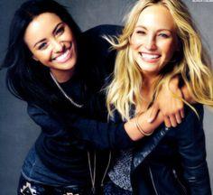 Bonnie and Caroline   (Katerina Graham and Candice Accola)