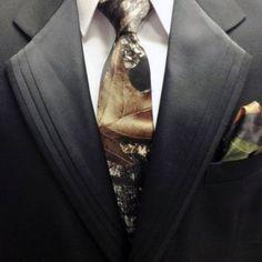 Mens Camo Wedding Neck Tie