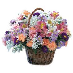 Blooming Extravaganza Flower Basket to Netherlands-Antilles