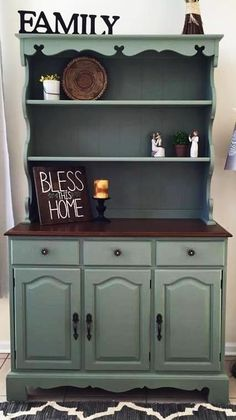 General Finishes Basil Hutch | Created by By Michelle Furniture ~ www.facebook.com/...
