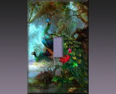 Light Switch Cover - Peacocks