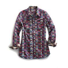 Tin Haul Chevron Print Shirt