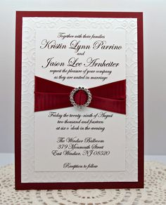 Elegantly Embossed Wedding Invitation in by InviteBling on Etsy, $4.50