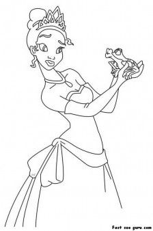 Print Out A The Princess And Frog Coloring Page