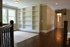 Upstairs reading nook. What books would you collect to fill these shelves? #DRHorton #Homes