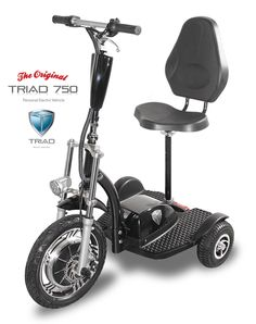 Electric Scooters for Adults Electric Vehicles Personal Transporter Electric Scooter. The Triad 750 is the most powerful and lightest electric scooter for adults of its kind for sale. http://triadmotion.com The best in class Triad 750 personal electric vehicle electric scooter for adults is the highest quality personal electric vehicle available. The Triad 750 is designed to outperform all it's competitors. For information please contact sales@triadmotion.com or call 855-648-7423