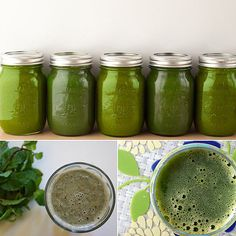 A perfect balance of sweet and savory: apple, pear, spinach, kale, celery, and cucumber make up the ingredients in this recipe for sweet and green juice.