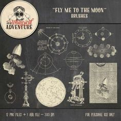 Collections :: F :: Fly Me To The Moon by On A Whimsical Adventure :: Fly Me To The Moon Brushes