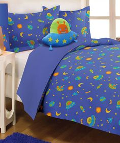 Take a look at this Blue Alien Mini Comforter Set today!