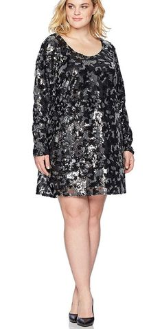online shopping for Rebel Wilson X Angels Women's Plus Size Sequin Dress from top store. See new offer for Rebel Wilson X Angels Women's Plus Size Sequin Dress Sequin Dress With Sleeves, Plus Size Sequin Dresses, Plus Size Party Dresses, Dress Plus Size, Black Sequin Dress, Sequin Party Dress, Dresses With Sleeves, Plus Size Womens Clothing, Plus Size Fashion