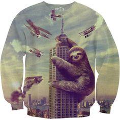 Slothzilla Men's Sweatshirt – Sharp Shirter
