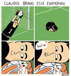 La razón de por qué Claudio Bravo es tan seco para atrapar la pelota.