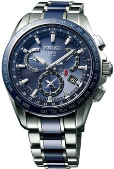 f127f92d703 Seiko Astron Watch GPS Solar Dual Time Titanium D Watch available to buy  online from with free UK delivery. Jsaphacarneiro · Relógios Masculinos