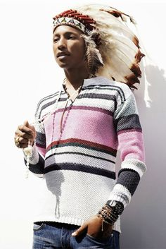 Official store of the Billionaire Boys Club and Icecream clothing lines by Pharrell Williams. Pharrell Williams, Native American Headdress, Stan Smith Sneakers, Afro Punk, Versace Men, Gentleman Style, Looks Cool, Kanye West, Beautiful People