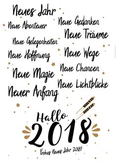 Alles wird neu - Frohes neues Jahr 2018! Silvester Spruch zum Ausdrucken #silvester2018  #silvester  #sprüche  #minidrops