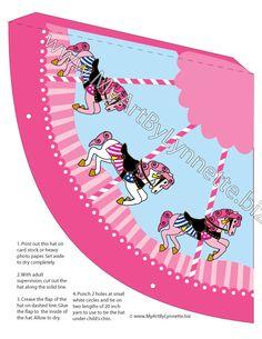 LynnetteArt: Pink Fancy Carousel Horse birthday invitation