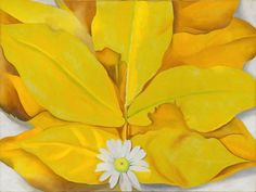 Georgia O'Keeffe /  Yellow Hickory Leaves with Daisy