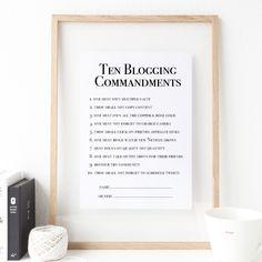 Ten Blogging Commandments   The Blogging Commandments   Bloggers – That Lame Company