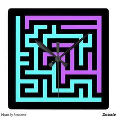 Maze Square Wall Clock