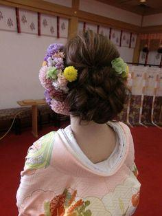 じわじわ人気の和装結婚式♡和装に似合う人気ウエディングヘアスタイルの3枚目の写真 | マシマロ