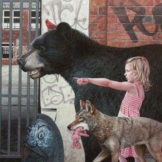 hyperrealistisch schilderij van Kevin Peterson