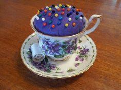 Teacup Pincushion with Tutorial