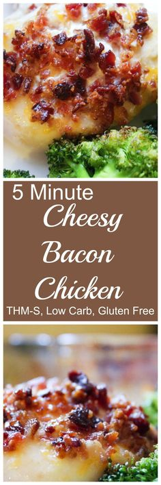 5-Minute Cheesy Bacon Chicken - a perfect meal for paleo, keto or low carb (LCHF) followers