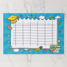 Shop Kawaii Cute School Timetable Paper Pad created by produkto.