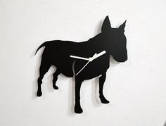 English Bull Terrier Dog Silhouette - Wall Clock on Etsy, $24.00
