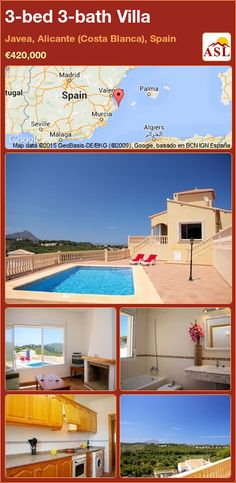 3-bed 3-bath Villa in Javea, Alicante (Costa Blanca), Spain ►€420,000 #PropertyForSaleInSpain