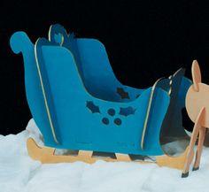 Free Christmas Yard Art Patterns | Reindeer & Sleighs - Take Apart Sleigh Woodcraft Pattern