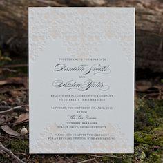 Deciduous Press - vintage_damask wedding invitations