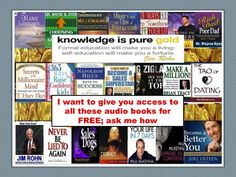 You can have access to over 100 FREE audio and ebooks HERE. Use this for yourself and/or earn 1000s of dollars from sharing them over and over again. Access your library here http://www.trackads.biz/link/FreeLibrarynEarn1000dollars