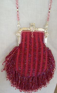 Take Me To The Prom - Bead Knitted Purse. $349.00, via Etsy.