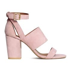We're feeling light, blush pink for spring -- and these H&M block heels! Click to shop more.