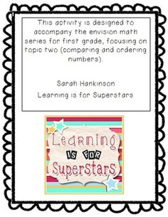 1st Grade Math Unit {Comparing & Ordering Numbers FREEBIE}