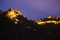 Beautiful evening in the Castle of Xativa, Valencia (Spain)