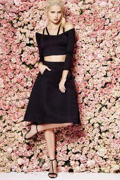Away From Here Black Midi Skirt