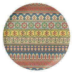 Persian pattern plates