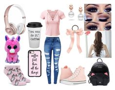"""Hoping I made the cheer squad. So scared to find out.. Wish me luck"" by xxfallen-outlooksxx on Polyvore featuring WithChic, Escalier, Cara, Pin Show, Converse, Beats by Dr. Dre, Forever 21 and Casetify"