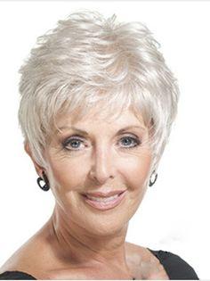 penteado para cabelo grisalho longo - Google Search                                                                                                                                                     Mais