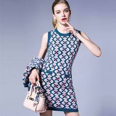 Aliexpress.com : Buy High quality brand Italian Style of Knitting Spring 2017 New Real Sleeveless Wool Knitted Dress Straight Flower Pattern S M Blue from Reliable italian brand suppliers on Europe's High-end M Store