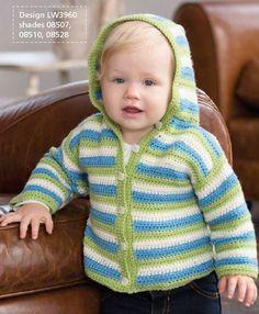 Snadný dětský svetřík s kapucí - NÁVODY NA HÁČKOVÁNÍ