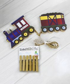 Toad and Lily Express Train Artwork Display Clip Set | zulily