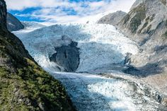 Franz Josef Glacier Roberts Point Track Face Of Glacier Close up View