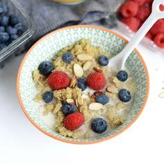 Vanilla Bean Breakfast Quinoa + Healthy Back-to-School Recipes + Amazon Giftcard Giveaway! #nutrition #recipes