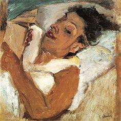 Chaim Soutine | Woman reading, 1937