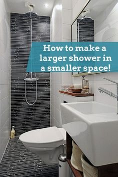 If you have a tight bathroom it's still possible to create a larger shower space. This project used a wet room system. Learn how to design a larger shower in this article http://blog.innovatebuildingsolutions.com/2015/05/09/large-shower-making-bathroom-bigger/