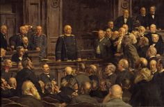 """On February 6, 1888, in one of his last and most famous Reichstag speeches, Bismarck called for an expansion of the army to meet existing and potential foreign threats . Near the end of his long speech, shown here in a 1901 painting by Ernst Henseler (b. 1852), Bismarck told the house: """"We Germans fear God and but nothing else in the world!"""" The second half of the sentence is important. Bismarck continued: """"and it is the fear of God that makes us love and strive for peace."""""""